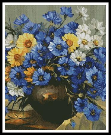 click here to view larger image of Bouquet of Blue (chart)