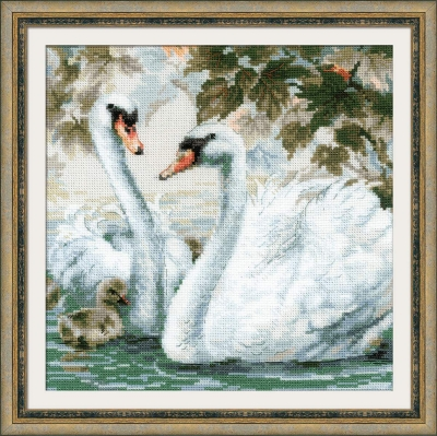 click here to view larger image of White Swans (counted cross stitch kit)