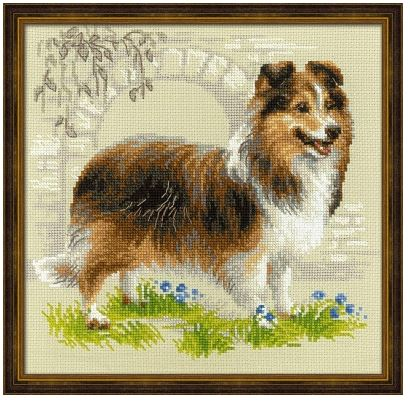 click here to view larger image of Sheltie (counted cross stitch kit)