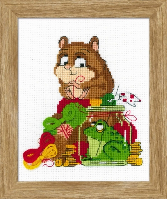 click here to view larger image of Hamster and Toad (counted cross stitch kit)