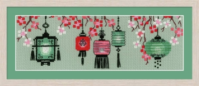 click here to view larger image of Lanterns (counted cross stitch kit)