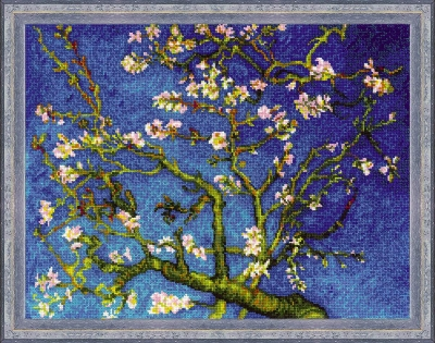click here to view larger image of Almond Blossom - After Van Goghs Painting (counted cross stitch kit)