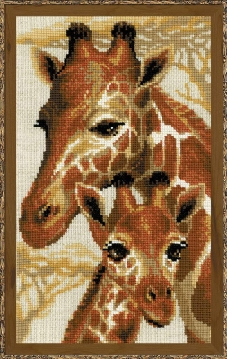 click here to view larger image of Giraffes (counted cross stitch kit)