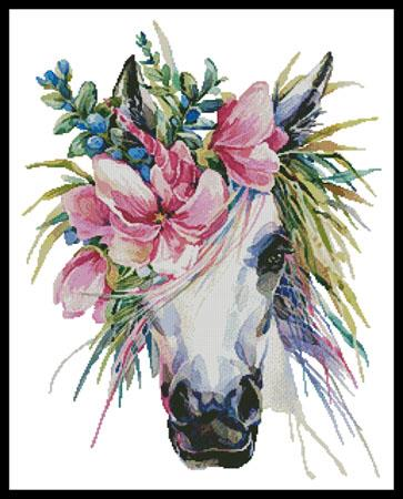 click here to view larger image of Floral Unicorn (chart)