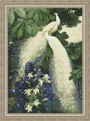 click here to view larger image of White Peacock Garden (chart)