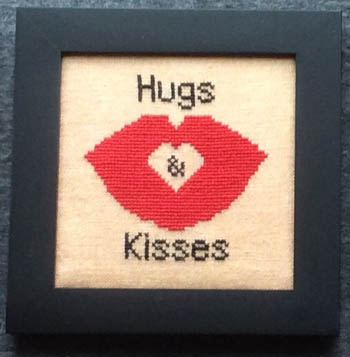 click here to view larger image of Home Decor - February Hugs & Kisses (chart)