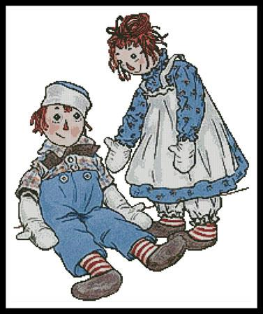 click here to view larger image of Raggedy Ann and Andy (chart)
