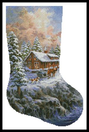 click here to view larger image of Winter Majesty Stocking (right) (chart)
