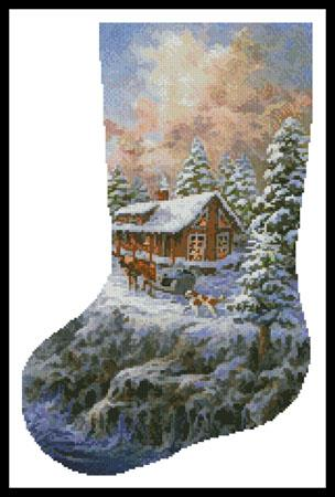 click here to view larger image of Winter Majesty Stocking (left) (chart)