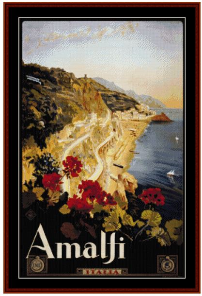 click here to view larger image of Amalfi - Vintage Poster (chart)