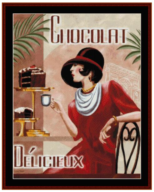 click here to view larger image of Chocolat Delicieux Vintage Poster (chart)