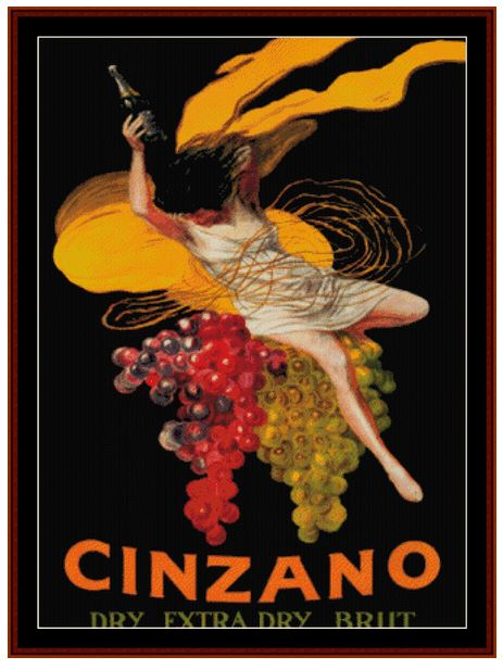 click here to view larger image of Cinzano Vintage Poster (chart)