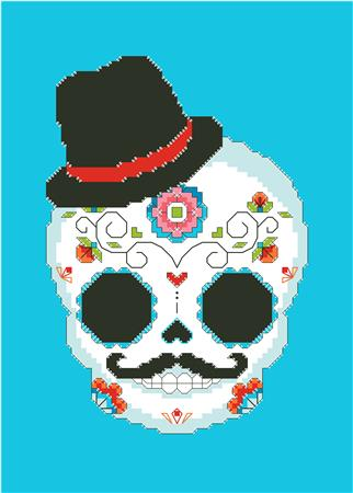 click here to view larger image of Sugar Skull Blue (chart)