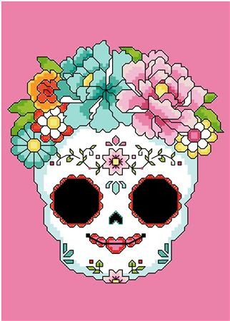 click here to view larger image of Sugar Skull Pink (chart)