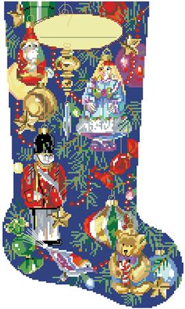 click here to view larger image of Christmas Ornaments Stocking (chart)