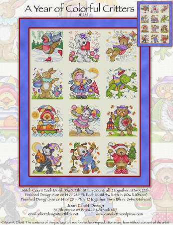 click here to view larger image of Year Of Colorful Critters, A (chart)