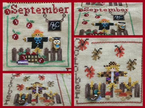click here to view larger image of Year With The Scarecrows, A - September and October (chart with charms/buttons)