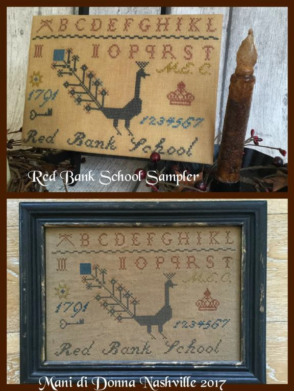 click here to view larger image of Red Bank School Sampler (chart)