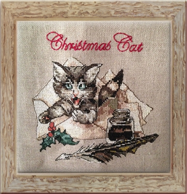 click here to view larger image of Christmas Cat (Kit) (chart)