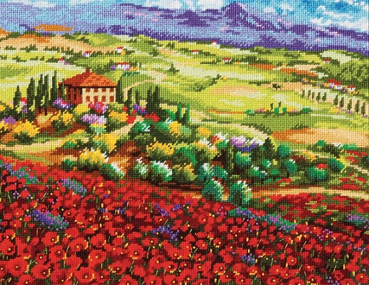 click here to view larger image of Tuscan Poppies (needlepoint)