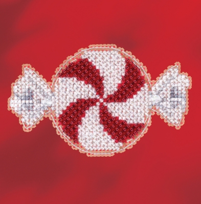 click here to view larger image of Peppermint Candy - 2017 Winter Series (counted cross stitch kit)