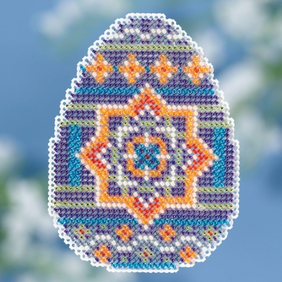 click here to view larger image of Medallion Egg (2018) - Spring Bouquet (counted cross stitch kit)