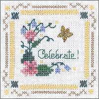 click here to view larger image of Celebrate! Kit - Beyond Cross Stitch (Hardanger and Cut Work)
