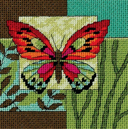click here to view larger image of Butterfly Impression (needlepoint)