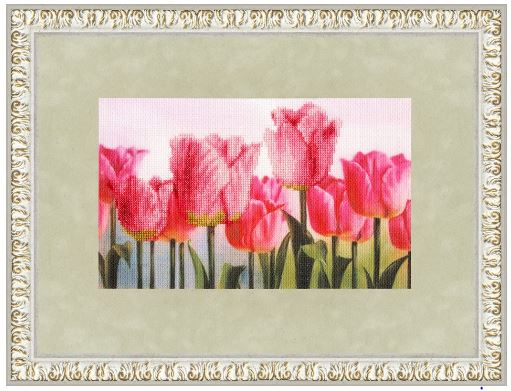click here to view larger image of Pink Tulips (counted cross stitch kit)