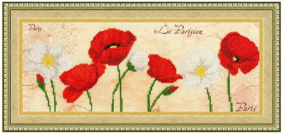 click here to view larger image of Poppy Heaven (counted cross stitch kit)