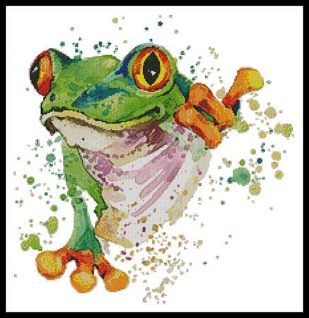 click here to view larger image of Watercolour Frog (chart)
