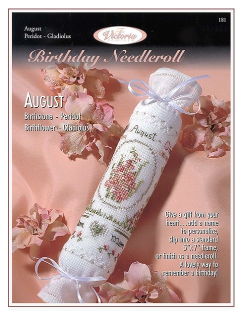 click here to view larger image of August Birthday Needleroll (chart)