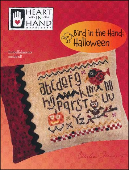 click here to view larger image of Bird In The Hand - Halloween (chart with charms/buttons)