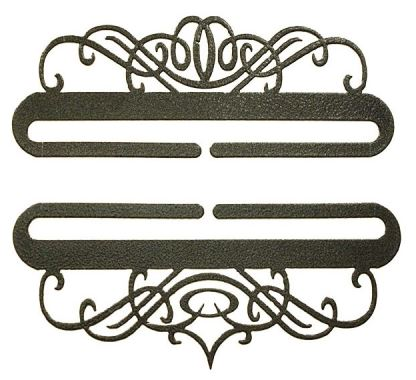 click here to view larger image of Windy Scroll Split Bottom Bellpull - Charcoal - 6in (accessory)