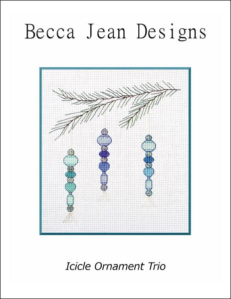 click here to view larger image of Icicle Ornament Trio (chart)