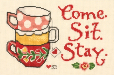 click here to view larger image of Tea Party - Susan Branch (counted cross stitch kit)
