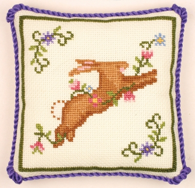 click here to view larger image of Bunny Pincushion - Susan Branch (counted cross stitch kit)