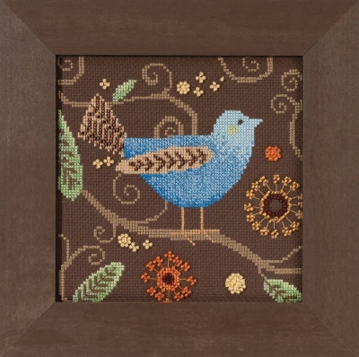click here to view larger image of Blue Bird - Out On A Limb by Debbie Mumm (counted cross stitch kit)