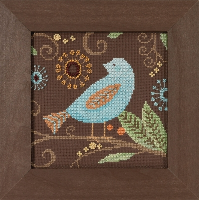 click here to view larger image of Aqua Bird - Out On A Limb by Debbie Mumm (counted cross stitch kit)
