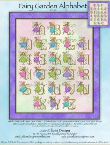 click here to view larger image of Fairy Garden Alphabet (chart)