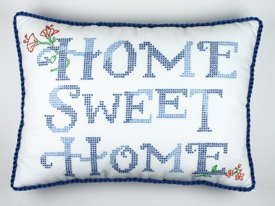 click here to view larger image of Home Sweet Home by Susan Branch (stamped cross stitch)