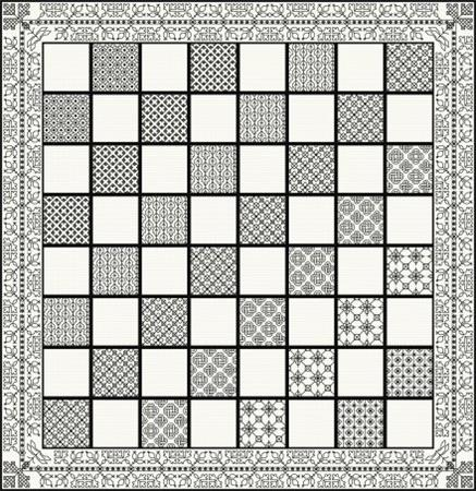 click here to view larger image of Classic Chess Board - Blackwork (chart)
