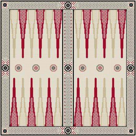 click here to view larger image of Backgammon - Celtic Blackwork Design (chart)