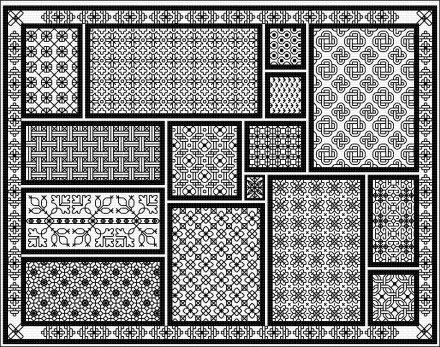 click here to view larger image of Blackwork Mousemat (chart)