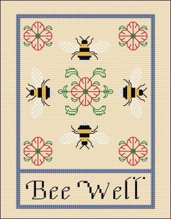 click here to view larger image of Bee Well Card (chart)