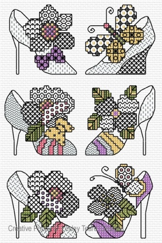 click here to view larger image of Blackwork Shoes (chart)
