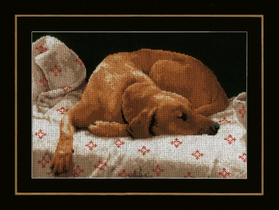 click here to view larger image of Sleeping Dog (counted cross stitch kit)