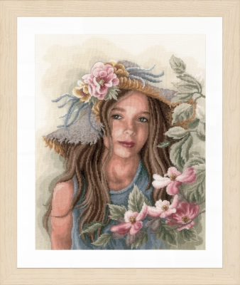 click here to view larger image of Little Girl With Hat (counted cross stitch kit)