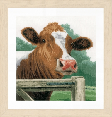 click here to view larger image of Wondering Cow (Aida) (counted cross stitch kit)