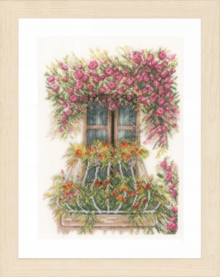 click here to view larger image of  Flower Balcony (counted cross stitch kit)